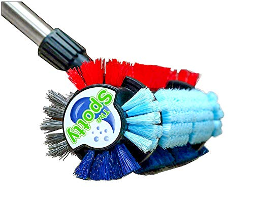 The SpottyTM ~ Carpet & Tile Cleaning Brush - Stain and Dirt Remover for Carpet & Area Rug - Heavy-Duty Scrubber
