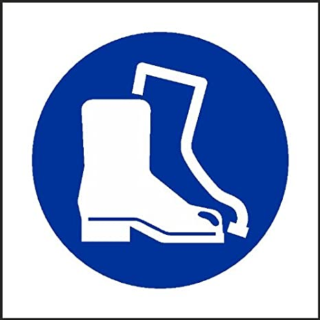 100mm x 100mm Wear Safety Boots Sign [Sticker Self Adhesive Vinyl] Workshop  Office Personal Protection Safety: Amazon.co.uk: Kitchen & Home