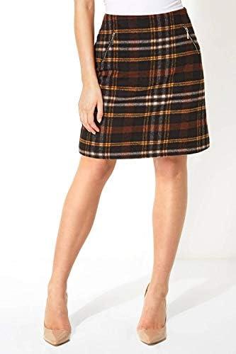 Roman Originals falda de cuadros cepillados para mujer, 2 ...