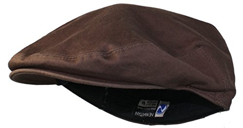 Ted and Jack - Street Easy Traditional Solid Cotton Newsboy Cap (X-Large, Chocolate -