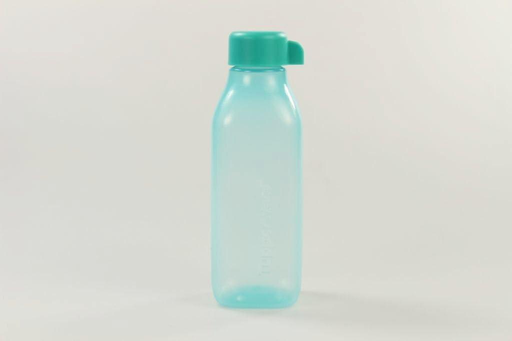 TUPPERWARE Bottela Ecológica cuadrado de 500 ml turquesa