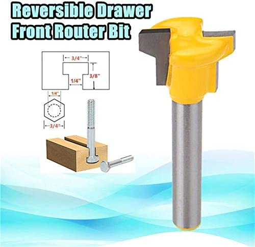 DXX-HR Shank Reversible Drawer Front Router Bit Woodworking Milling Cutter 1/4 Inch Drill Bits