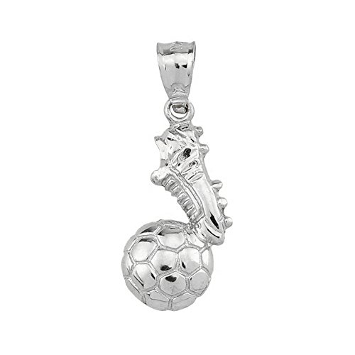 Polished Sterling Silver Soccer Charm product image