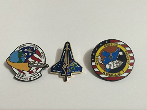 Official Nasa Space Program Fallen Heroes Pin Set Apollo Shuttle Apollo 1 Sts-51l Challenger Sts-107 Columbia