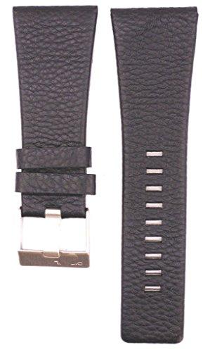 32mm Leather Suitable For DZ1543 DZ1541 DZ1463 DZ7248 DZ7249 DZ1464 DZ1542 Watches Band Strap (black)