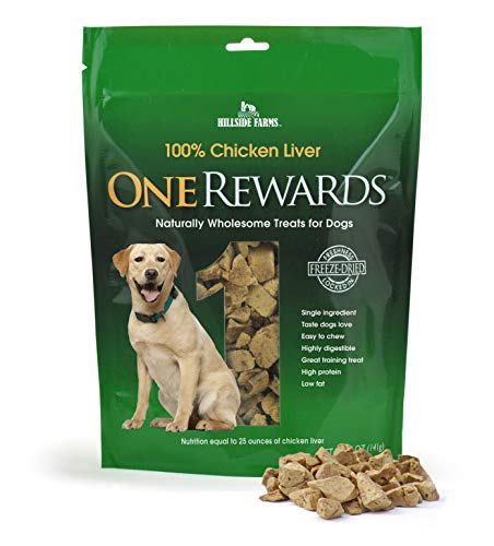 (One Rewards Chicken Liver Freeze Dried Dog Treats, 20-Ounce)