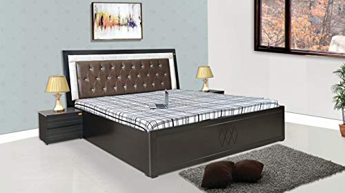 ELTOP King Engineered Wood;MDF Bed With Storage   Polished Finish_brown