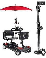 YUXINCAI Verstelbare parapluhouder voor buiten, houder voor de parapluaansluiting, voor rolstoelen, wandelaars, rollator, fiets, kinderwagen, rolstoelaccessoires.