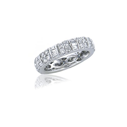 Baguette Diamond Eternity Wedding Band - 1.63 CTW Diamond Eternity Band In 18KT White Gold - IDJ009477