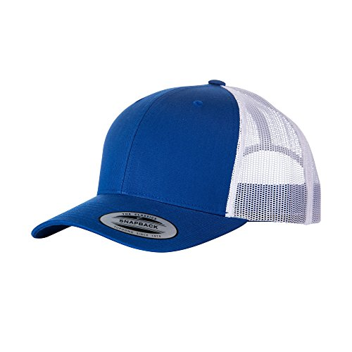 Yupoong Flexfit Retro Snapback Trucker Cap (One Size) (Bright Royal White) 0f84ce7e170