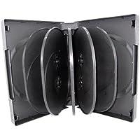 Mediaxpo Brand 10 Black 12 Disc DVD Cases