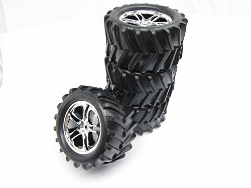 CLASSIC T-maxx 2.5 TIRES (4 WHEELS, Chevon 14mm 5173 tyres Traxxas 49104 ()