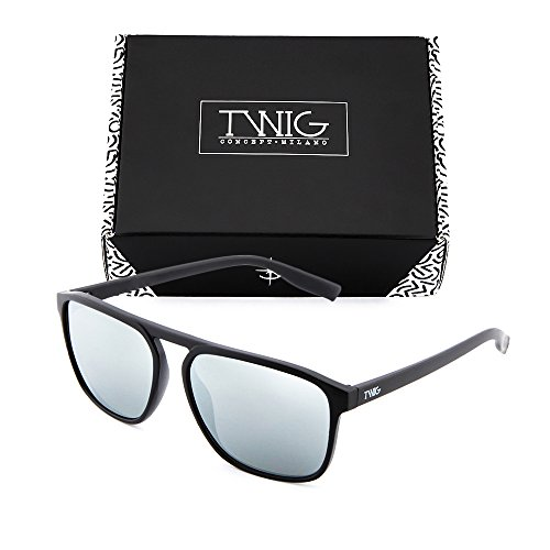 espejo Gafas de Plata mujer sol DOYLE hombre TWIG Negro degradadas wqIHF7qr