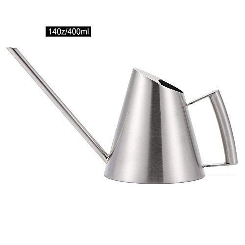 Gregarder Stainless Steel Watering Can Pot, 400ML by Asvert