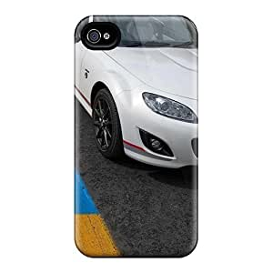 Tpu Case Cover Compatible For Iphone 4/4s/ Hot Case/ Mazda Mx 5 Kuro 2012