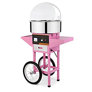 VEVOR Candy Floss Maker Stainless Steel Candy Floss Machine 20.5 Inch Electric Candy Floss Maker With Cart&Cover