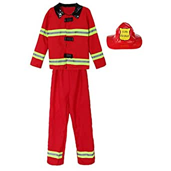 IPOTCH 3 Unid Set Disfraz de Bombero Fiesta de Niños ...