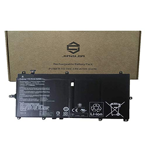 - JIAZIJIA C41N1718 Laptop Battery Replacement for Asus NovaGo TP370 TP370Q TP370QL Series Notebook C41PSJH Black 15.4V 52Wh 3300mAh 4-Cell
