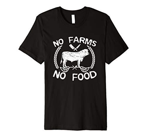 No Farms No Food Cow Livestock Farmer Gift TShirt