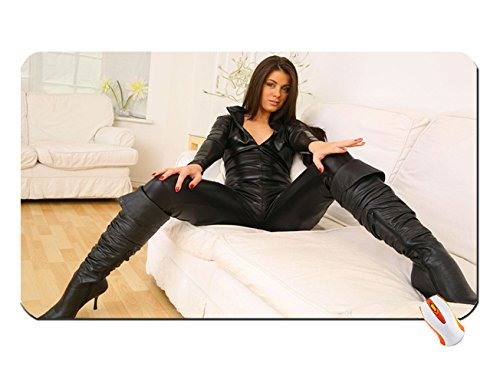 Leather Boots Women Black Fetish Spande Apart Leather ...
