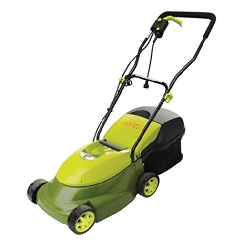 Durable Steel Blade Electric Corded Lawn Mower w/ Grass Box, Green