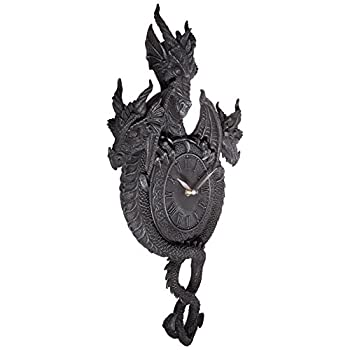 Design Toscano Past, Present, Future Sculptural Dragon Wall Clock