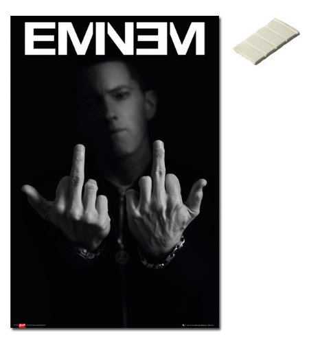 Bundle - 2 Items - Eminem Middle Fingers Poster - 91.5 x 61c