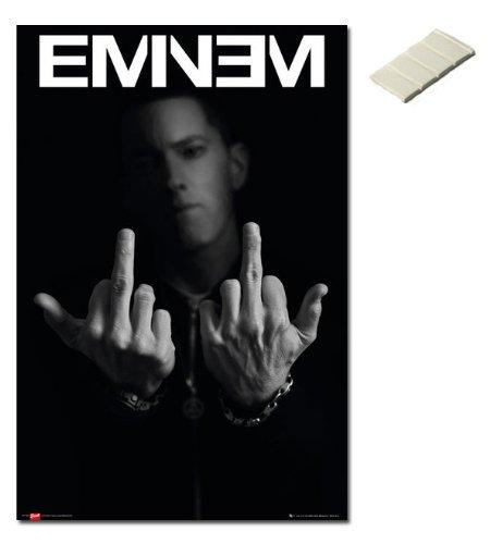 Bundle - 2 Items - Eminem Middle Fingers Poster - 91.5 x 61c