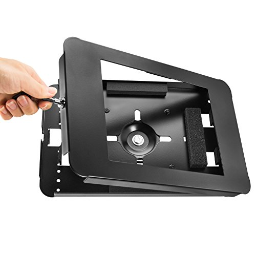 """iBOLT TabDock Point of Purchase - Heavy Duty weighted 8.5"""" stand w/ locking holder for POS / Point of Sale, Kiosk, Check-out, displays ( iPad Pro 9.7"""", iPad 4 / 3 / 2 / iPad Air 1 / 2)- Black by iBOLT (Image #2)"""