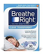 Breathe Right Clear Large, 30 Count