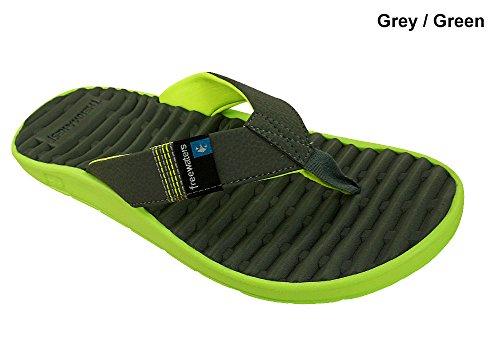 Freewaters Men's GPS Sandal Footwear,Grey/Green,12 M US