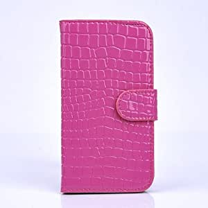 iPhone 5 / 5S, Crocc Leather Wallet case [Mini-Scale Design] for the iPhone 5 / 5S (pink)