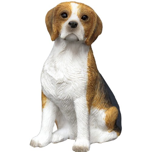 Sandicast Small Size Beagle Sculpture, Sitting