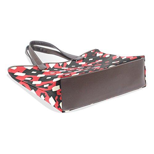 Modello Del Grandi Bag Mano Nera E Multicolor M Tote In Pelle 002 Spalla Cm Pu Gestire Rossa Coosun 40x29x9 YqP7zA