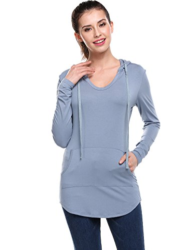 Meaneor Womens Pullover Hoodies Kangaroo product image