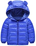 Etecredpow Boy Quilted Down Zip Hoodid Lightweight Solid Jacket Parka Coat Blue 4T