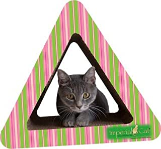 product image for Imperial Cat Triangle Combo Scratch 'n Shape, Pink/Lime Stripe