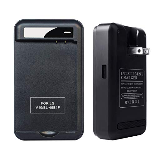 LG V10 Specialized Battery Charger: Lrker Specialized Intelligent Portable USB Travel Wall Charger for LG V10 Phone Spare battery - Black - Battery is Not Included (1S Charger)