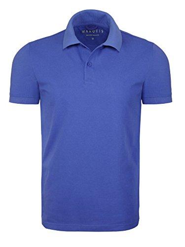 Marquis Modern Fit Pique Polo Shirt - Dazzling Blue, - Modern Preppy