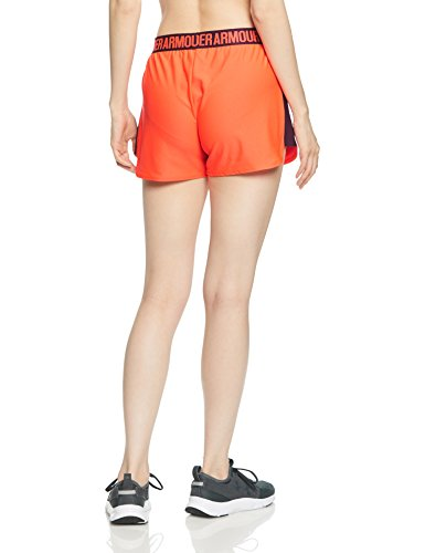 2 Neon 0 Armour Pantalones Deportivos Mujer Play Cortos Under Coral Short Up vWInqf7f