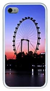 iphone 4S fun case Night under the Ferris wheel TPU White for Apple iPhone 4/4S