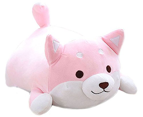- MISS TUTU Pink Shiba Inu Dog Soft Plush Throw Pillow Lifelike Animal Pillows Plush Toy for Valentine's Gift, Bed,Sofa Chair