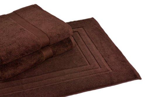 Homestead Textiles All American Cotton Line 100-Percent Pima Bath Towel/Mat Set, Coffee Bean, 3-Piece