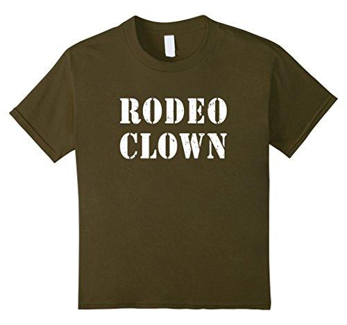 Kids Rodeo Clown Halloween T-Shirt 6 Olive