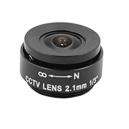 uxcell Replacement F1.2 2.1mm Fixed Iris for Security CCTV Camera Lens Black