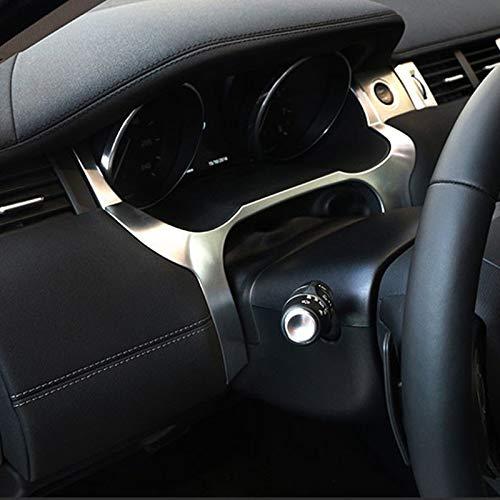 Semoic Interior del Coche Tablero Delantero Cubierta del Borde Marco Ajuste ABS Accesorios Cromados para LHD para Range Rover Evoque 2012-2016