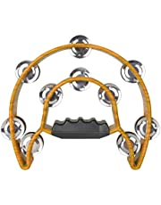 Almencla Tambourine for Kids and Adults - Easy to Use - Comfortable Hand Held Percussion Instrument (Double Row)