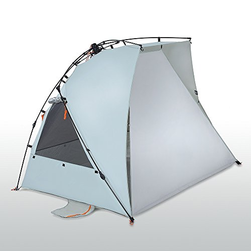 Kau Kohu 4 Person Easy Up Beach Tent for the Entire Family, Certified UPF 50 Protection Blocks out 98 Percent of UV Sun Rays