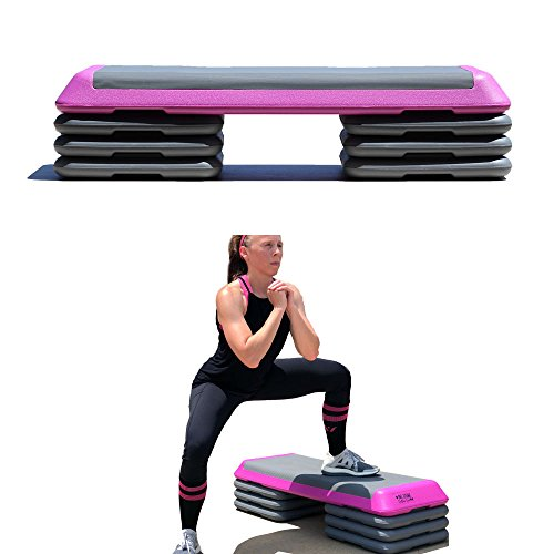 Cheap One Strong Southern Girl Workout Stepper with Extra Risers-Perfect for Body Pump and Aerobics (Pink)