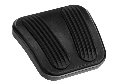 - Lokar XBAG-6160 Black Finish Curved Emergency Brake Pedal Pad for Chevy Nova